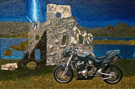 Motorrad Bilder Gemalt by Galerie N 252 Tzen