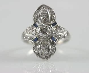 antique platinum dinner ring