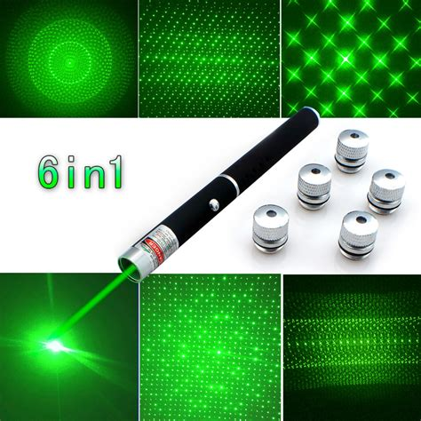 top quality 6in1 5mw 650nm green blue laser pointer