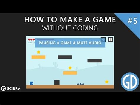 construct 2 audio tutorial 5 how to make a game pausing a game mute audio