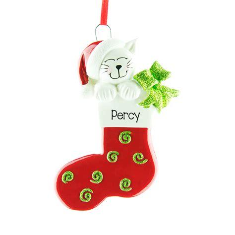 cat stocking personalised hanging christmas decoration 75