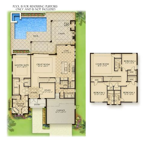 plan de maison plain pied en u 3553 savona bay new waterfront homes in ft myersnew build homes