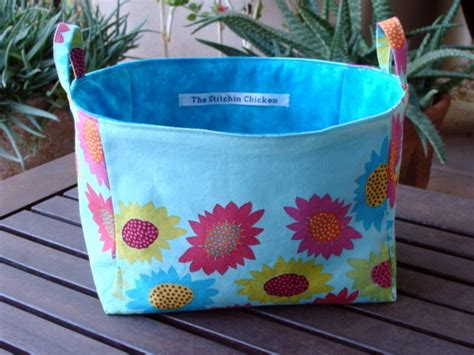 pattern fabric storage basket useful storage basket from fabric sew craft pinterest