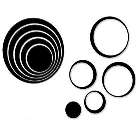 wallpaper sticker dinding 3d sticker 3d wallpaper dinding circle ring 5pcs black