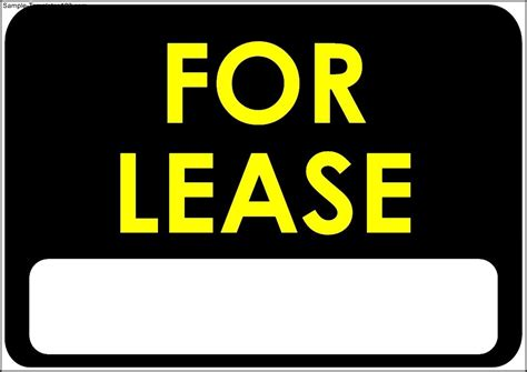 for lease sign template sle templates