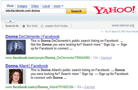 Profiles Yahoo Search Yahoo Integrates Images From Profiles In Search Results