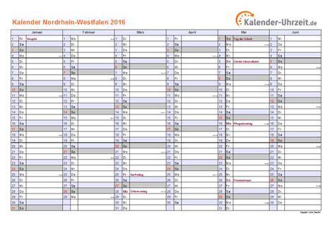 Kalender 2016 Drucken Feiertage 2016 Nordrhein Westfalen Kalender