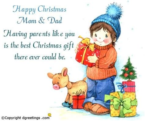 christmas cards for parents special day celebrations