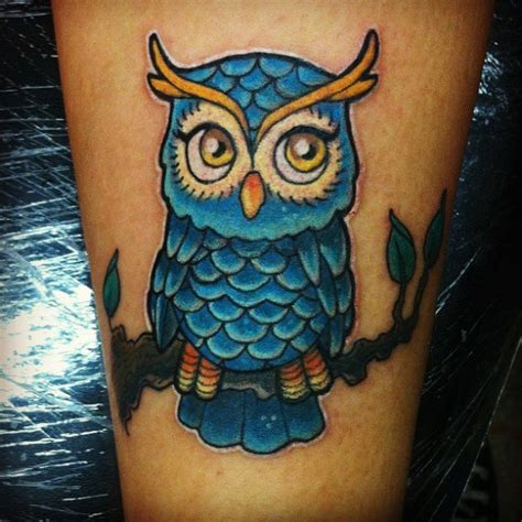 cartoon owl tattoo 40 creative owl tattoos for
