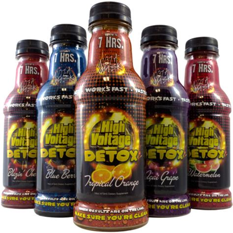 Test Detox Drinks Work by High Voltage Detox Drink 16oz Urine