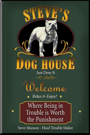dog house signs personalized dog house bar sign