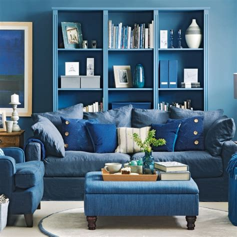 decorating with denim denim blue living room how to decorate with blue decorating housetohome co uk