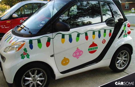 best christmas decirations for car 18 most creative decorated cars carsomesg
