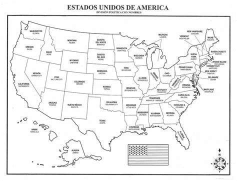 mapa america con division politica mapa de usa mapa de los estados unidos de am 233 rica con