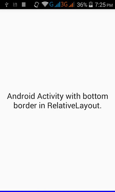 android layout view border add border to only bottom side in relativelayout android