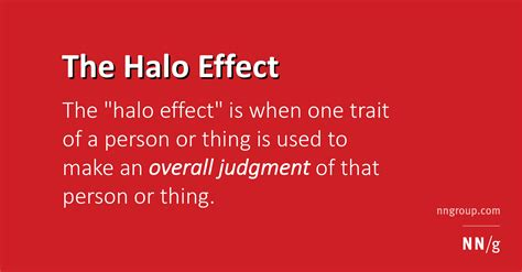 halo effect definition and impact on web user experience