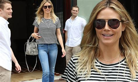 Heidi Klum Is A Handsome Fellow by Out Vito Heidi Klum 43 Gets Sweet Smiles From