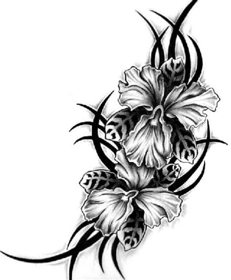 hawaiian hibiscus tattoo designs hawaiian turtle n flowers design