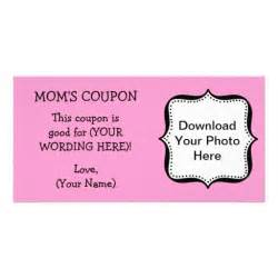 personalized coupon book template custom gift coupon for personalized photo card zazzle