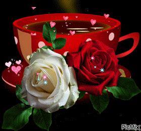 imagenes hermosas de good morning imagenes gif rosas y corazones buenos dias