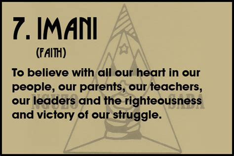 kwanzaa day 7 imani faith living bad