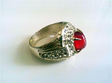 Cincin 2 In 5 jual cincin batu obsidian merah 2 cbom02 grosir cincin