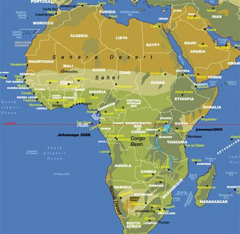 map of africa deserts best photos of maps of africa for students free