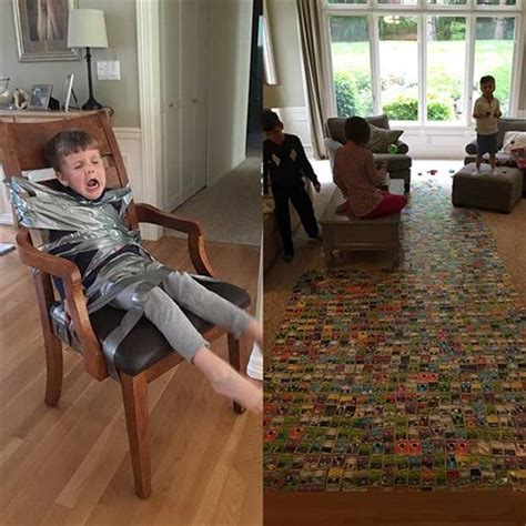 Duct Taped To Chair by Siblings Evil Solution To Meddling Oversixty