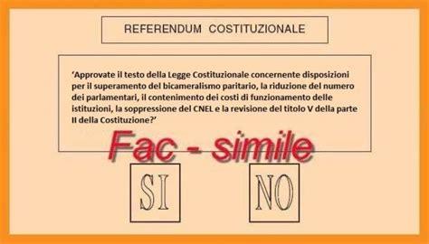 referendum costituzione 2016 ecco il quesito che sar 224