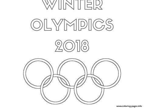Olympic Coloring Pages by Winter Olympics 2018 Logo Coloring Pages Printable
