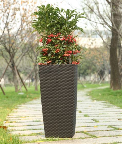 Outdoor Flower Pots Large Square Pots Plastic Flower Pots Outdoor Flower