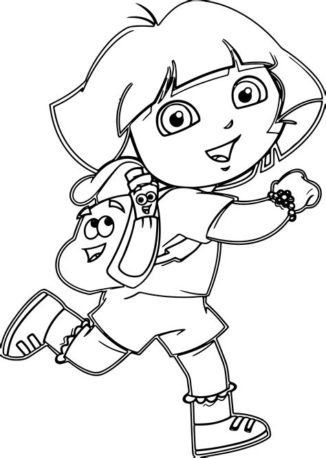 dora and buji coloring page dora coloring pages for kids dora coloring pages dora