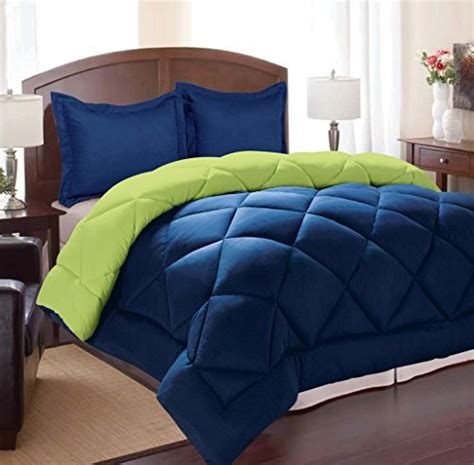 royal blue comforter set queen clara clark 3 piece goose down alternative reversible