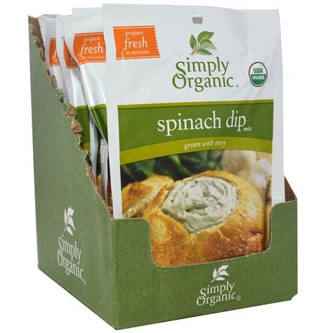 dip useful resources simply organic spinach dip mix 12 packets 1 41 oz 40 g