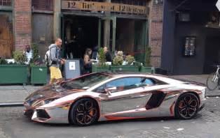 Chromed Lamborghini Winning Chrome Aventador In Gumball 3000 Business Insider