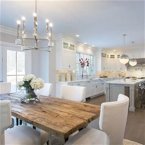 white kitchen table reclaimed wood top dining table transitional kitchen