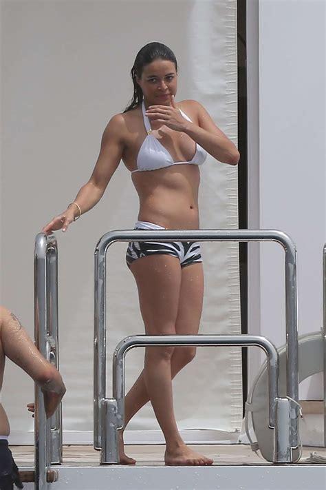 michelle rodriguez yacht international celebrities michelle rodriguez bikini
