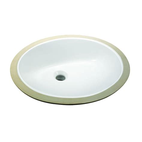 glacier bay bathroom sinks glacier bay oval undermounted bathroom sink in white 14
