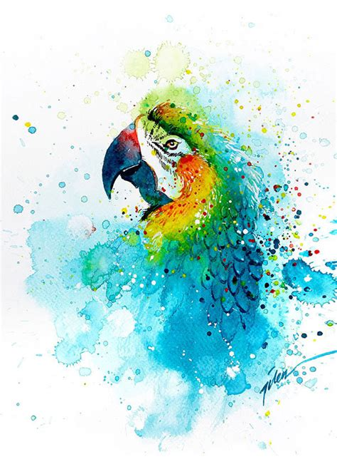 water color animals splashed watercolor paintings by tilen ti bored panda