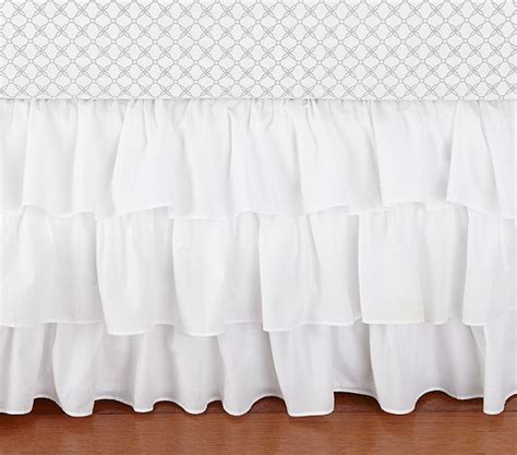 Ruffled Crib Skirt by Ruffle Crib Skirt Pottery Barn