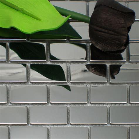 stainless steel tile backsplash wall cabinet hardware subway brick mosaic tiles silver stainless steel kitchen