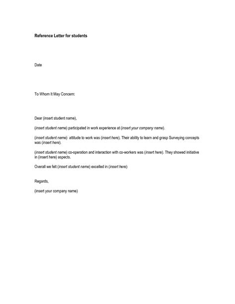 exle letter of recommendation cover letter of recommendation free references