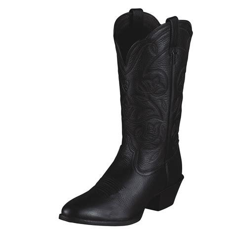 pungo ridge ariat heritage western r toe boots black