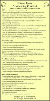 Writing A Basic Essay by Basic Essay Proofreading Checklist Writing Printable Reference Sh