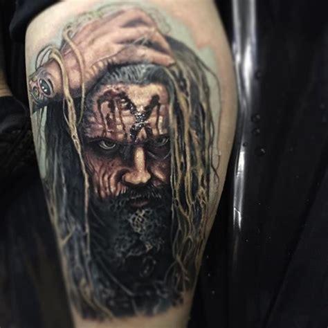 rob zombie tattoos rib designs rob has a headache i think