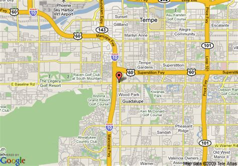 us map tempe arizona map of inn express hotel suites tempe tempe