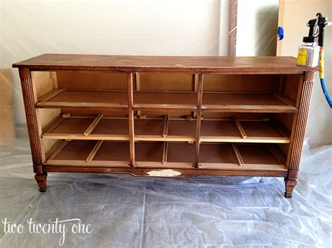 turn desk into vanity how to turn a dresser into a tv stand diy two twenty one