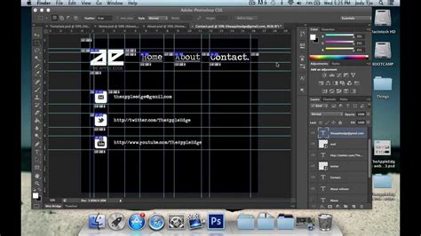 tutorial photoshop to dreamweaver create a website using photoshop dreamweaver part 1