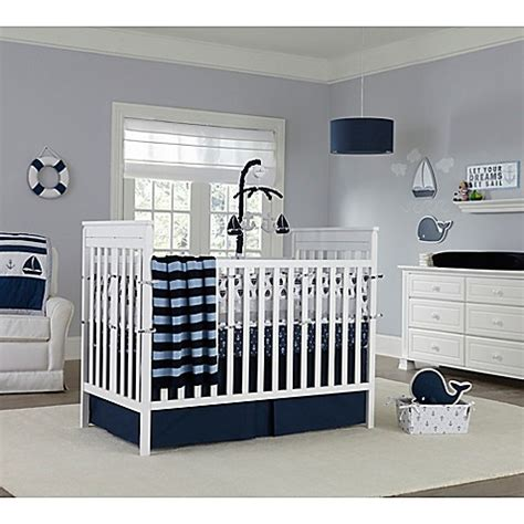 Nautica Kids 174 Mix Match Crib Bedding Collection In Navy Matching Crib And Bedding