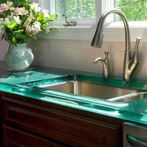 Green Glass Countertops 4 tips and 30 ideas to spruce up your kitchen digsdigs